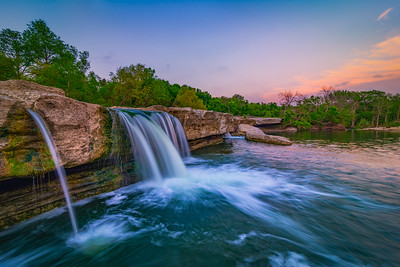 After Sunset at McKinney Falls