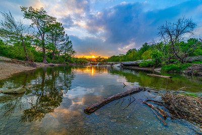 Sunset at McKinney Falls