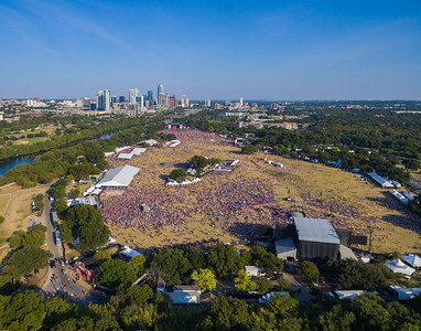 Austin City Limits 2015 with the Austin Skyline in the background