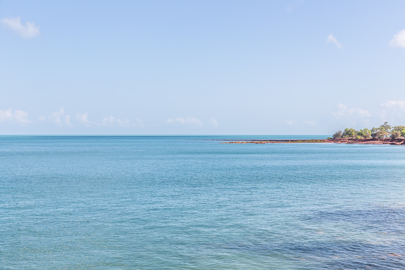 Looking out towards, apparently, the Timor Sea.