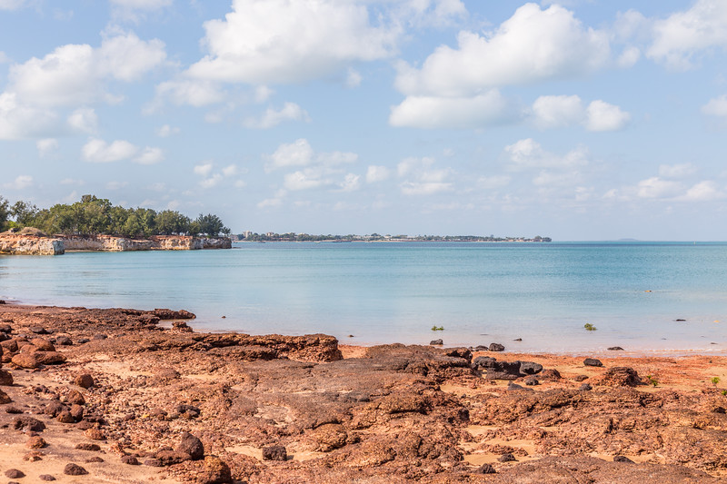 Looking south towards the city of Darwin from East Point Reserve. A nice variety of colors!