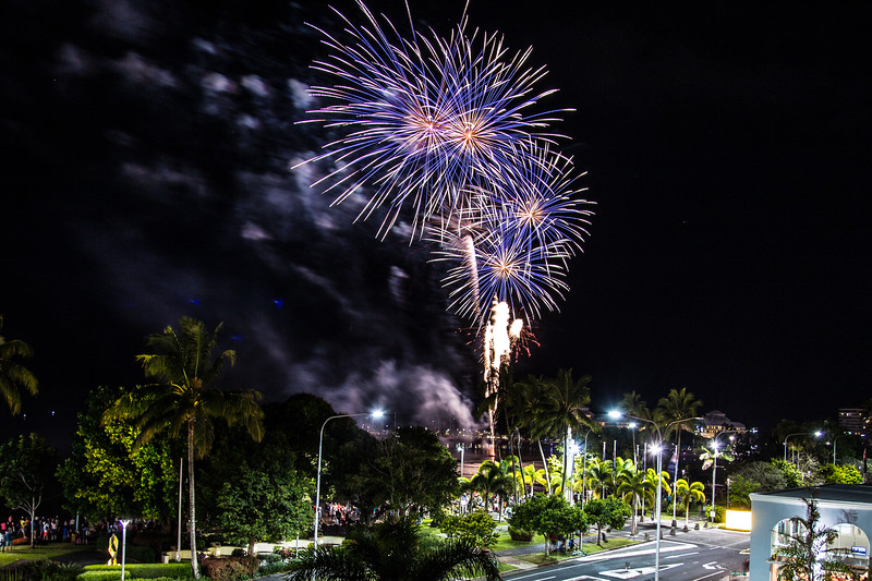Nice fireworks tonight at Cairns!