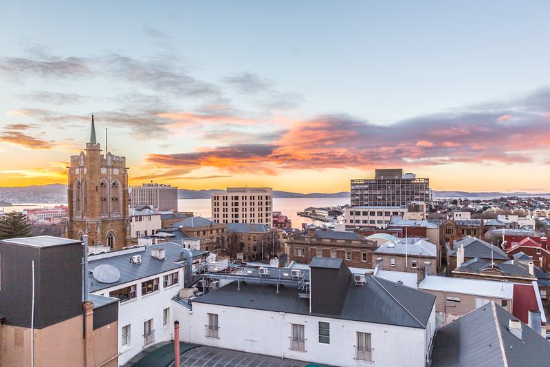 Morning in Hobart!