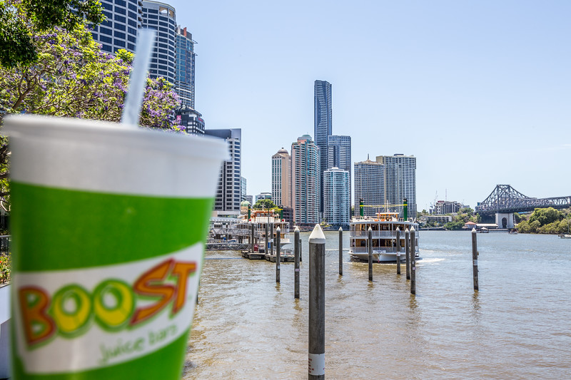 A beautiful hot day today by the Brisbane River. Perfect for a Boost!