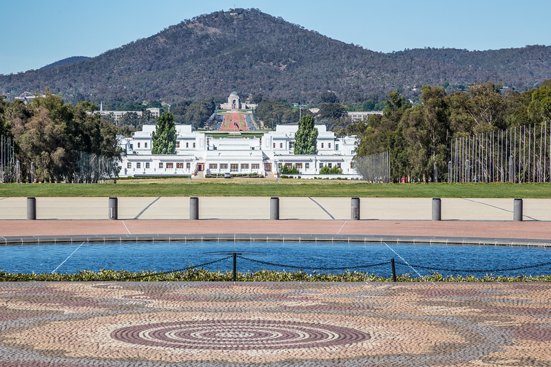 Old Parliament House, ANZAC Parade, Australian War Memorial, Mount Ainslie