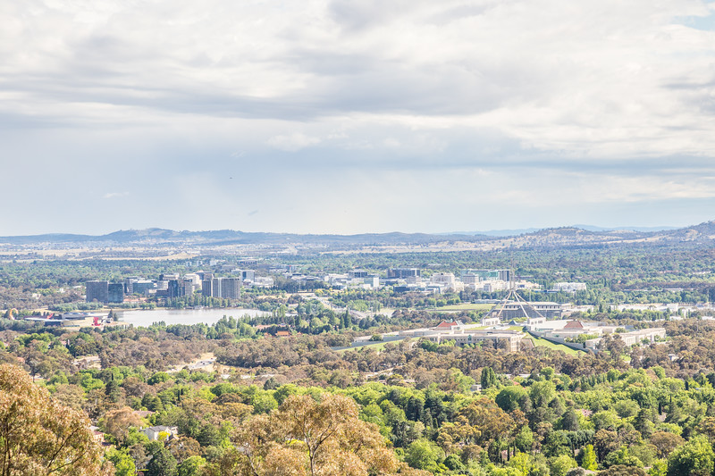 Canberra from atop Red Hill. Very green!