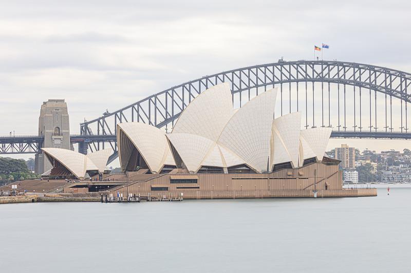 Sydney icons - the Opera House and Harbour Bridge!