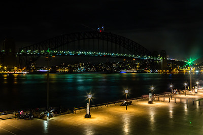 An unusual sight... An unlit Sydney Harbour Bridge. Turns out the lights were out for Earth Hour.