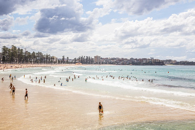 Nice weather at Manly Beach despite the clouds!