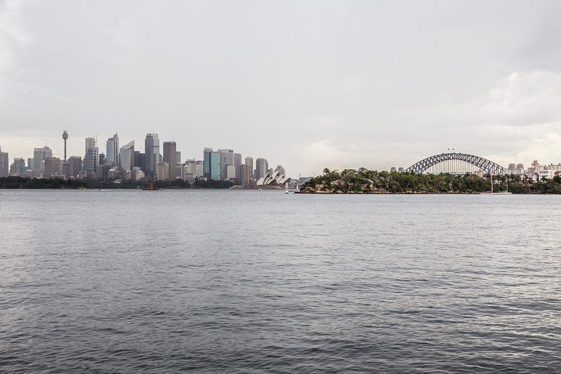 Its been a nice, though hot and humid, day in Sydney. A thunderstorm rolled in 45 min prior to the Taronga Zoo's closing time. Looks like it should be just a quick little summer storm.