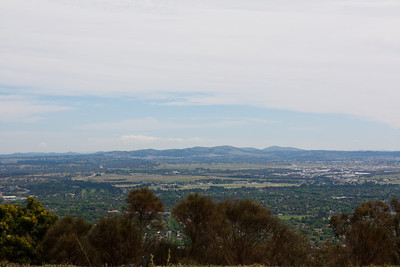 Looking to the northwest from atop Mt. Ainslie
