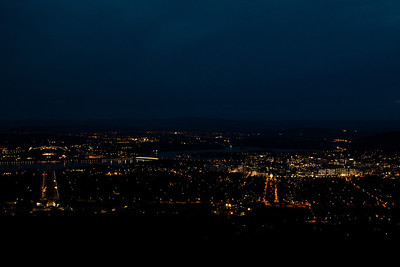 Canberra at night from atop Mt. Ainslie
