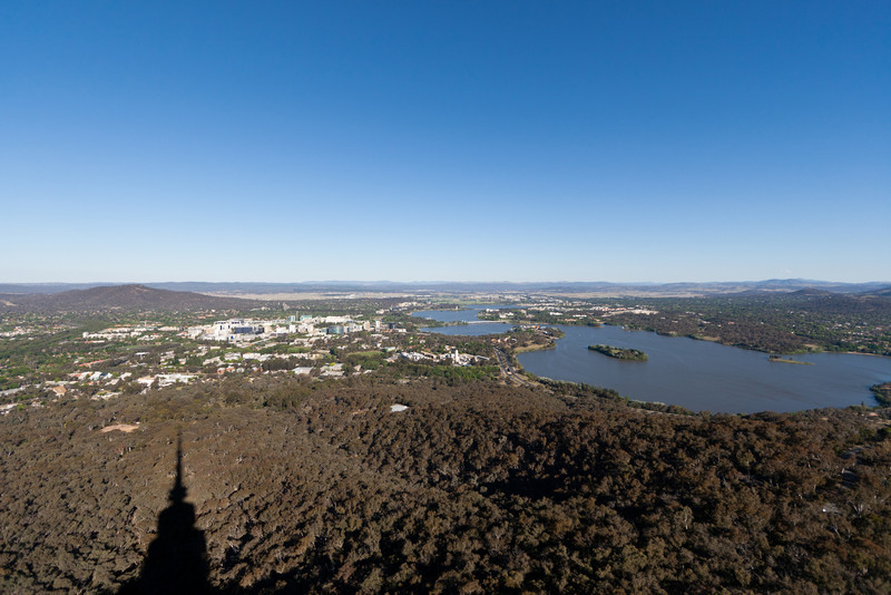 Canberra from the Black Mountain (formerly Telstra) Tower