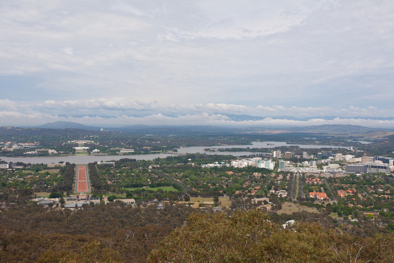 Canberra from atop Mt. Ainslie