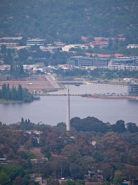 The Australian-American Memorial at Russell, the HQ of the Australian DoD from atop Mt. Ainslie