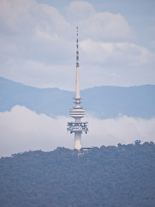 The Black Mountain Tower from atop Mt. Ainslie
