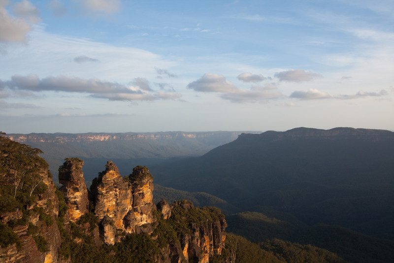 The Three Sisters before sunset
