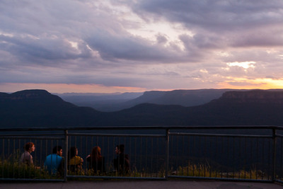 Daring sunset watchers