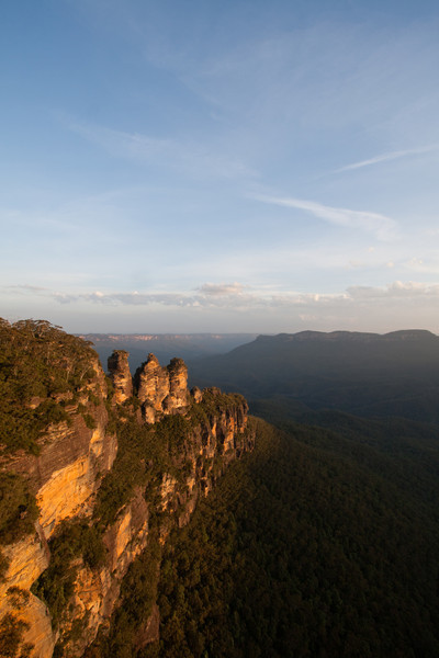 The Three Sisters at sunset