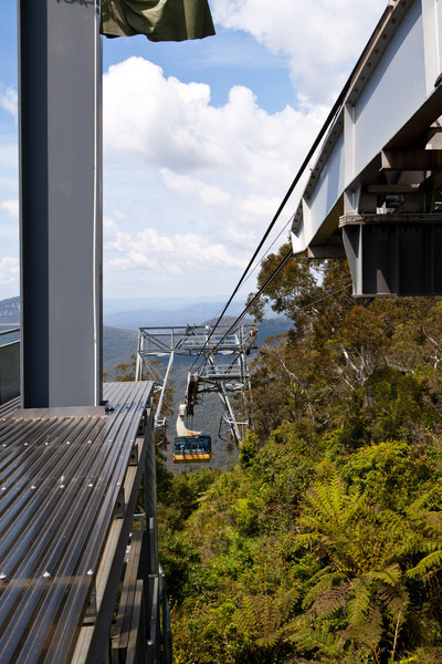 The Scenic Cableway ascending