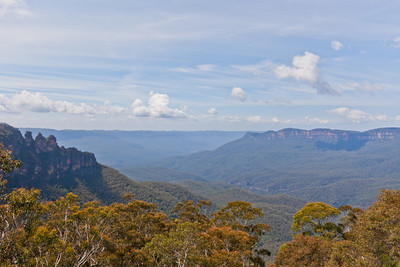 Looking towards the Three Sisters from the Scenic World Top Station