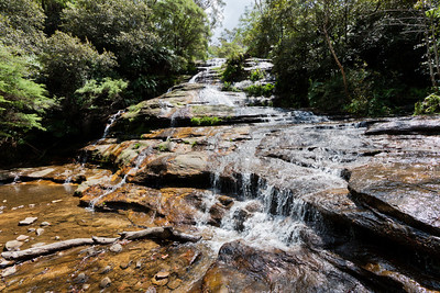 The upper portion of Katoomba Falls