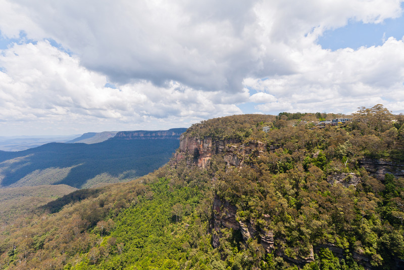 Looking towards Scenic World from near the opposite end of the Scenic Skyway