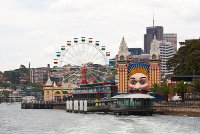 Luna Park on the north shore of Sydney Harbour just west of the Harbour Bridge