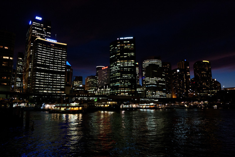 Circular Quay after sunset