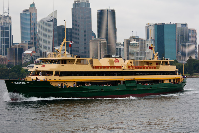 One of the larger ferries, the Queenscliff