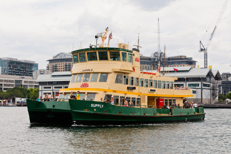One of the smaller Sydney ferries.  These catamaran hulled boats do move fairly fast.