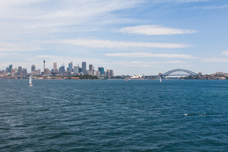 Sydney CBD, the Sydney Opera House, and the Sydney Harbour Bridge