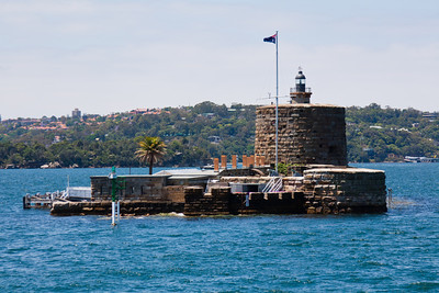 Fort Denison, on a little speck of an island in Sydney Harbour