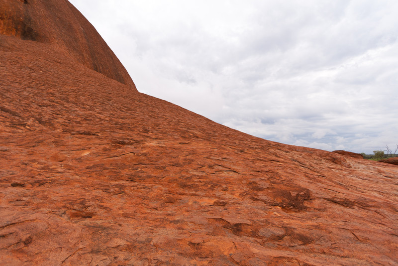 A closer view of Uluru