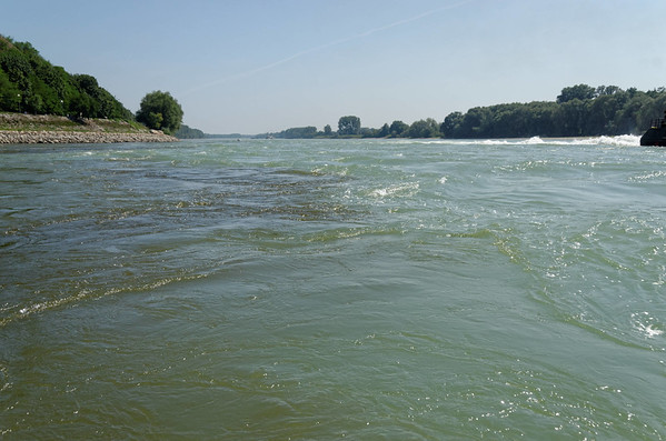 Color differences of river Morava meeting Danube
