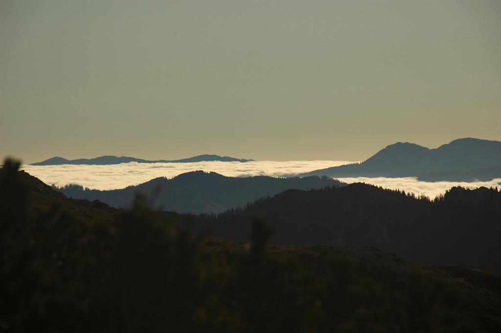 Sea of fog, late Autumn at Ebenstein, Hochschwab