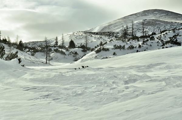 Snowstorm, looking at Mieserkogel
