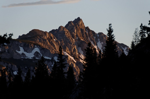 Sunset at Griesmauer, from Sonnschienalm