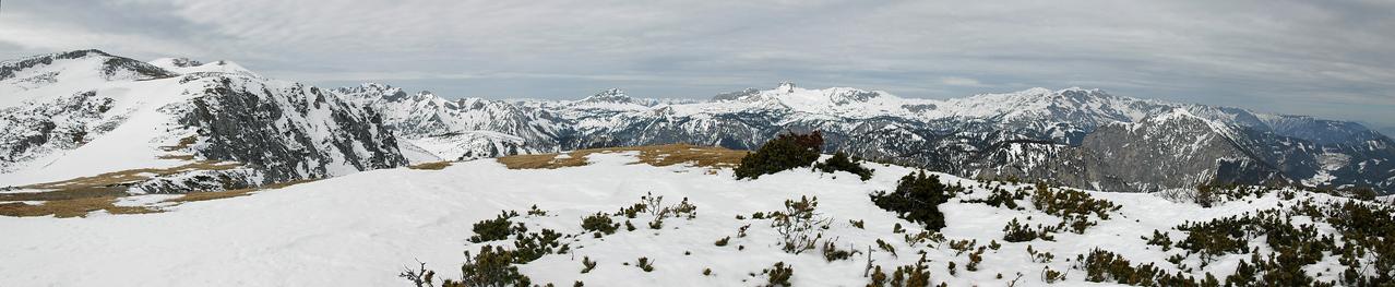 Overlooking Hochschwab mountain range