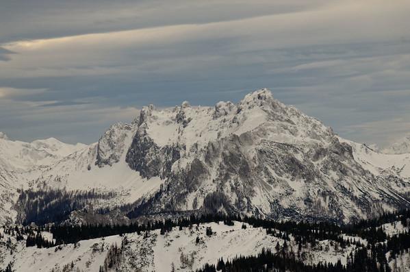 Skiing tour to Zinken, Hochschwab mountain region, Austria