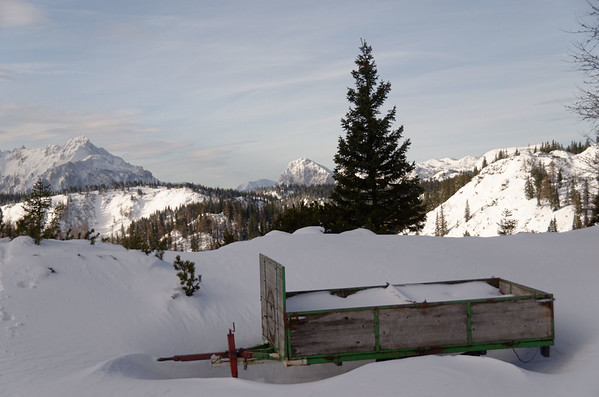 Skiing tour to Zinken, Hochschwab mountain region, Austria