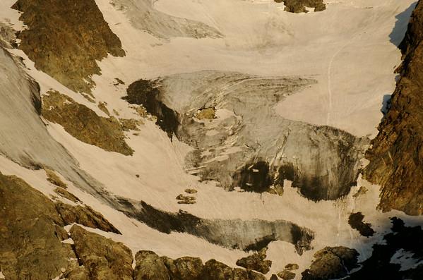 Glaciers flowing down Großglockner