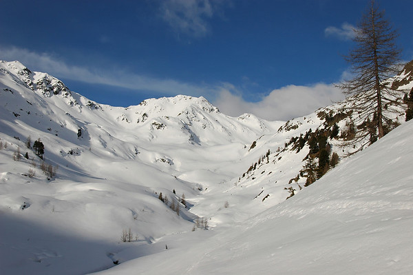 Schwarzsee valley upward to Schwarzriesenkopf