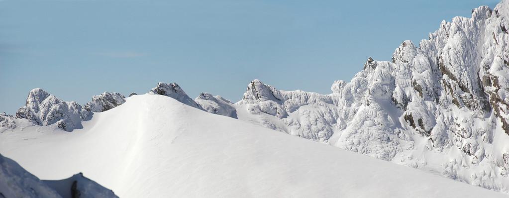 Windlucke iced rocks, Dachstein