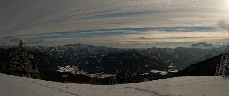 View from Weissenbachalm, Hochstaff, Lower Austria's Voralpen