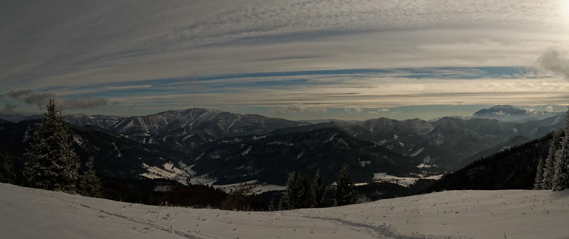 View from Weissenbachalm, Hochstaff, Lower Austria's Voralpen