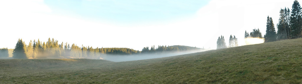 Fog layers seen from Hochwechsel, Austria