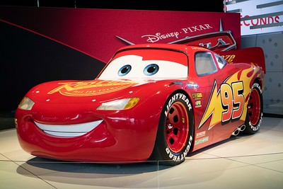 They had the real Lighting McQueen there!  This is a real car that actually drives.