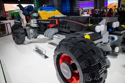 We thought you'd like this.  It's the Batmobile made out of Legos!
