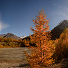 Panoramic view Saas fee october season